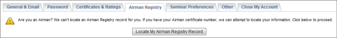 Airman Registry Sample